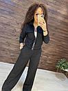 Женский костюм - двойка  штаны клеш и кофта на молнии 44ks1371, фото 5