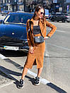 Юбочный костюм - двойка пиджак и юбка из микровельвета 36ks1373, фото 3