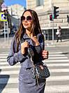 Юбочный костюм - двойка пиджак и юбка из микровельвета 36ks1373, фото 4