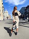 Юбочный костюм - двойка пиджак и юбка из микровельвета 36ks1373, фото 6