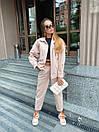 Женский костюм - двойка джинсы и свободная куртка 36ks1374, фото 2