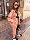 Женский костюм - двойка джинсы и свободная куртка 36ks1374, фото 3