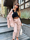 Женский костюм - двойка джинсы и свободная куртка 36ks1374, фото 4