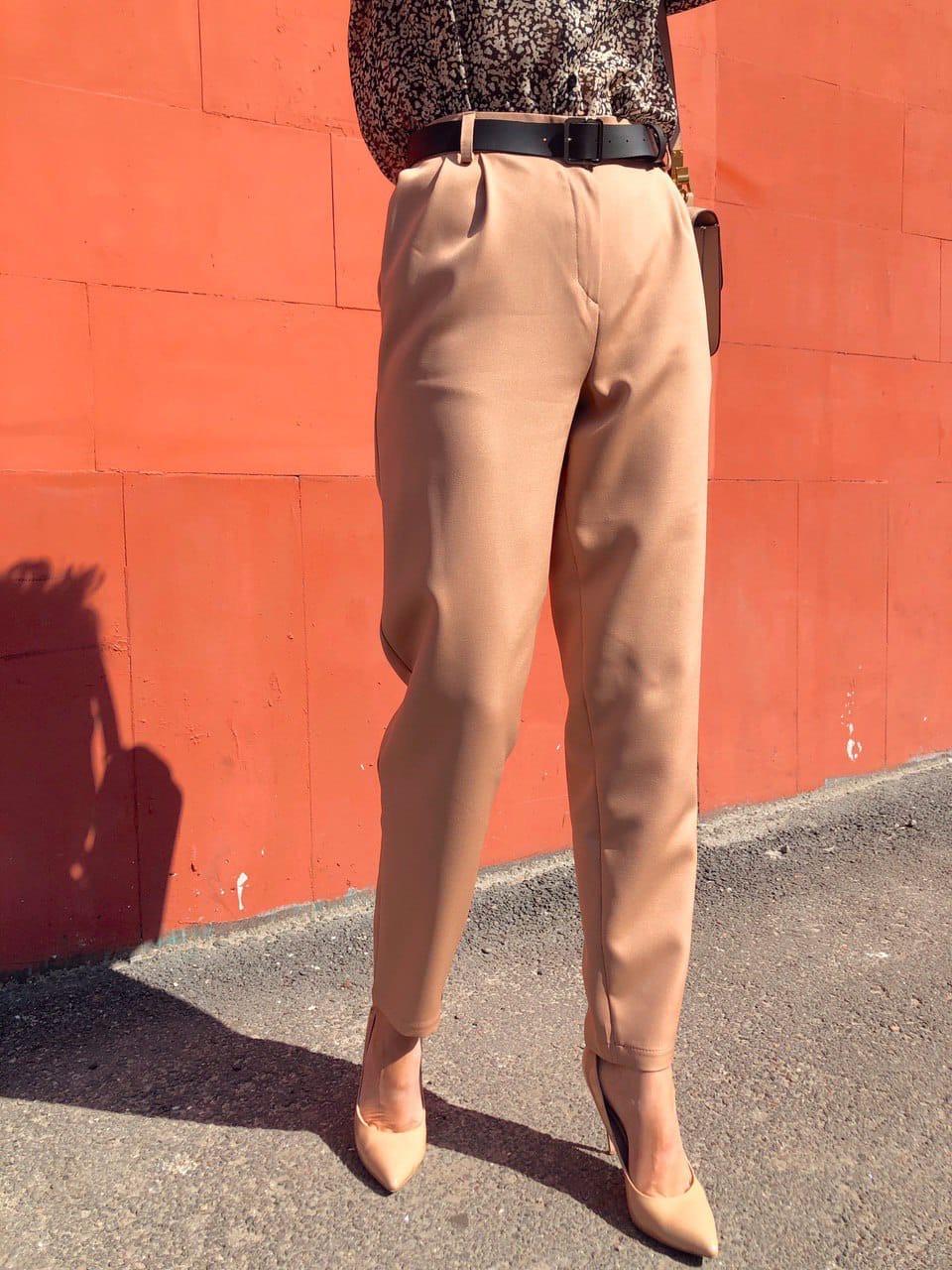 Женские брюки - бананы из костюмного крепа 68bu524