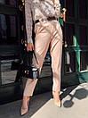 Женские брюки - бананы из костюмного крепа 68bu524, фото 3