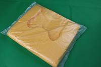 Пакеты-майка 8 мкм 240+70х2*400 мм для пищевых продуктов желтый 3000 шт мешок