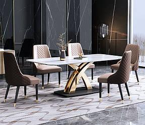 Обеденный прямоугольный стол со стульями. Модель RD-90179