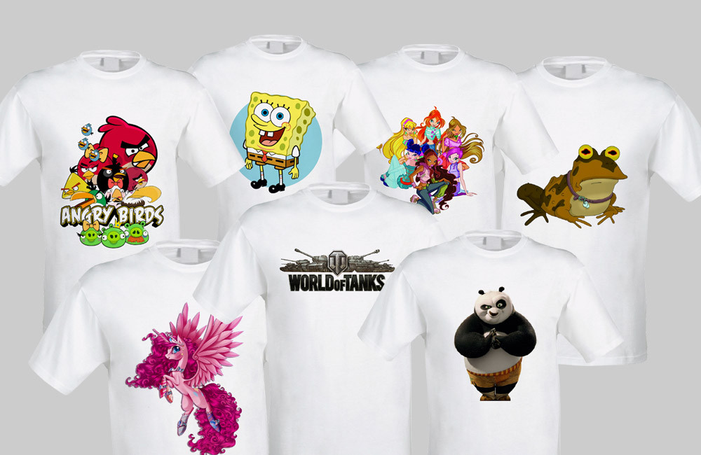 Печать на футболке цена