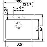 Гранитная мойка Franke Maris MRG 610-58 фрагранит серый 52 см, фото 2