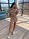 Своббодное платье худи из двухнитки с оригинальным принтом в едином размере 42-44 66plt1593Q, фото 2