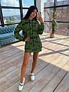 Своббодное платье худи из двухнитки с оригинальным принтом в едином размере 42-44 66plt1593Q, фото 3