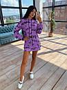 Своббодное платье худи из двухнитки с оригинальным принтом в едином размере 42-44 66plt1593Q, фото 4