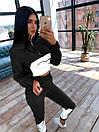 Женский спортивный костюм с укороченым худи и светоотражающими вставками 66spt1070Е, фото 3