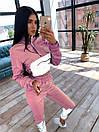 Женский спортивный костюм с укороченым худи и светоотражающими вставками 66spt1070Е, фото 5