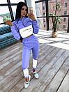 Женский спортивный костюм с укороченым худи и светоотражающими вставками 66spt1070Е, фото 6