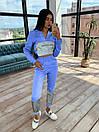 Женский спортивный костюм с укороченым худи и светоотражающими вставками 66spt1070Е, фото 7