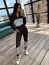 Женский спортивный костюм с укороченым худи и светоотражающими вставками 66spt1070Е, фото 9