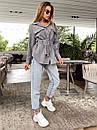 Женская удлиненная вельветовая рубашка свободная под пояс 22bir402, фото 5