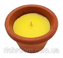 F1-00575, ароматична Свічка декоративна в глиняному горщику LIDL