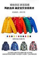 Детский легкий пуховик короткая куртка для детей с капюшоном 23 расцветки