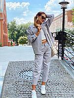 Женский костюм - двойка джинсы и свободная куртка 36mko1374, фото 1
