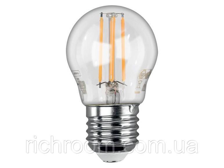 Филаментная светодиодная LED лампа Livarno Lux, 4,3 Вт, Е27, лампочка