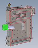 Котел пеллетный универсальный Smart MW 60 кВт + Пеллетная горелка Air Pellet Ceramic 60 кВт с Бункером 1м3, фото 5