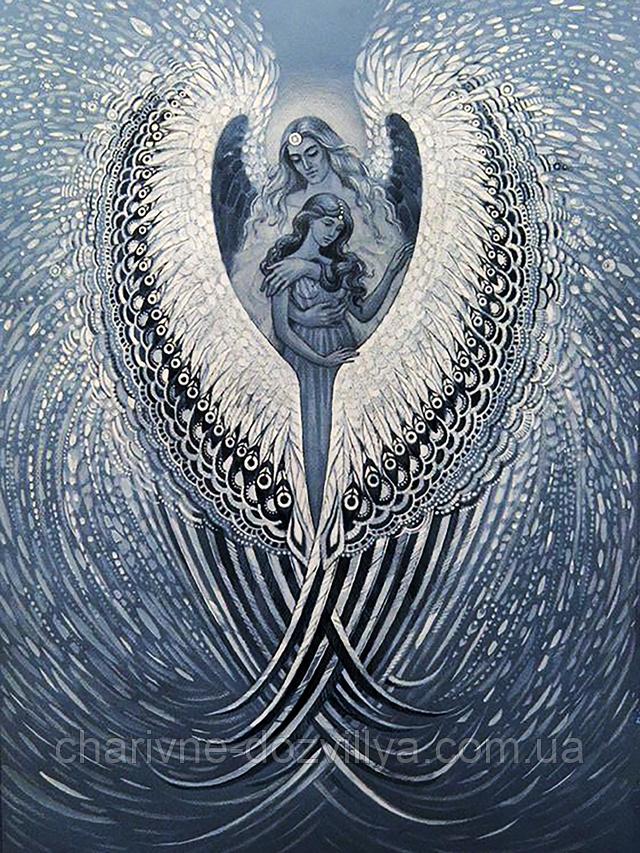 """Набор алмазной вышивки (мозаики) """"Под защитой Ангела"""""""