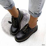 Туфли из натуральной кожи черного цвета, фото 3
