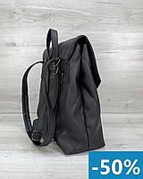 Женский черный рюкзак кожзам, рюкзаки из экокожи и сумки экокожа женские городские и спортивные