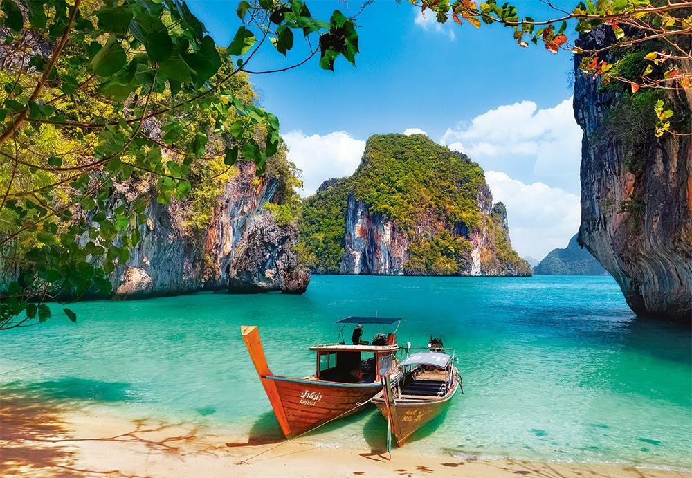 Пазлы Castorland 1000 элементов, 68х47 см, в коробке, Таиланд (море, залив, пейзаж)