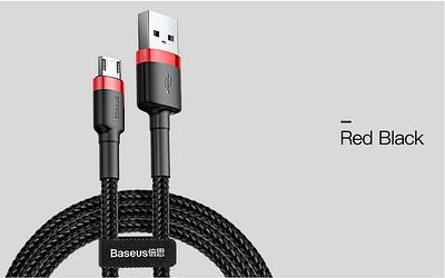 Кабель микро-USB, Baseus, 2,4 А, 2,4 А,RED-BLACK BS-2462