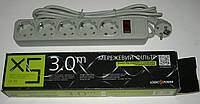 Сетевой фильтр LogicPower LP-X5 3м  (5 розеток) карт/упаковка