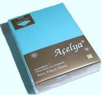 """ТМ """" Acelya"""" Простынь  махровая на резинке + 2 наволочки."""