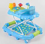 Детские ходунки голубые музыкальные JOY CP-12388, фото 4