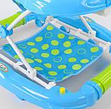 Детские ходунки голубые музыкальные JOY CP-12388, фото 3