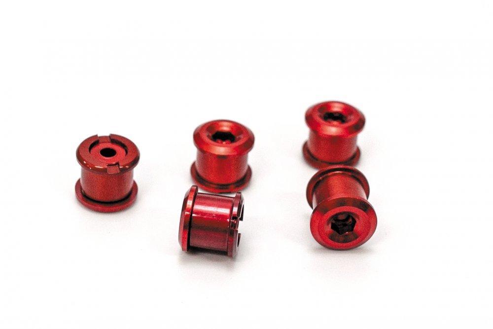 Бонки для шатунів, висота 6,5 мм, AL, червоні (комплект 5 шт)