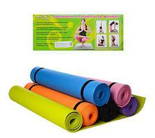 Коврик для йоги и фитнеса MS 0380-2, ЕVА, 173*61*0.5 см, разн. цвета