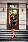 Куртка Кожаная Черная Съемный Низ 009ГК Батал, фото 5