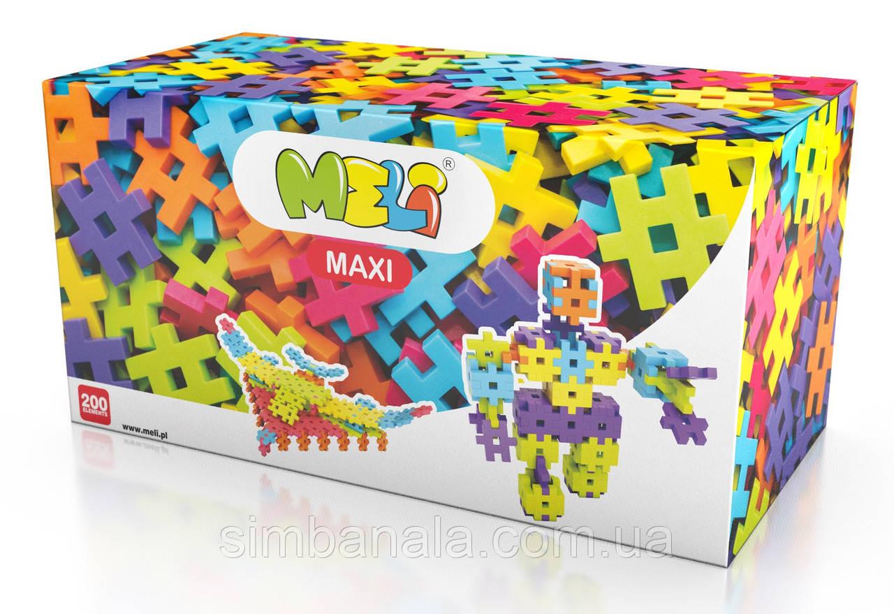 Детский конструктор MELI MAXI 200 элементов(4,2х4,2см), Польша