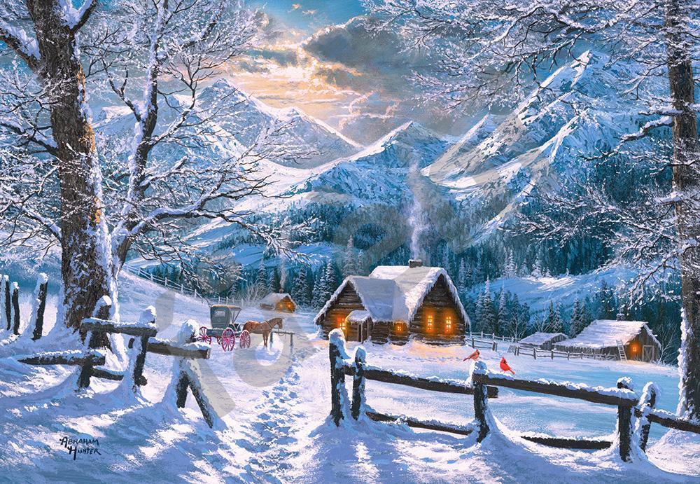 Пазлы на 1500 элементов Снежное утро (времена года, зима, картина), (Castorland, Польша)