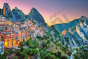 Пазлы на 1500 элементов Восход солнца над Кастельмедзано, Италия (города, пейзажи), (Castorland, Польша)