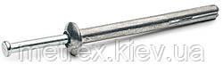 Дюбель-гвоздь металлический 6х65 мм., забивной для быстрого монтаж, цинк-алюминий/сталь