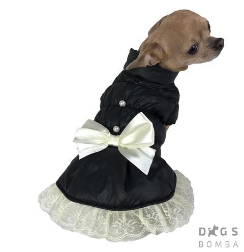 Куртка с бусинками и рюшей для собак
