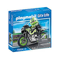 """Игровой набор """"Мотоцикл с мотоциклистом"""" Playmobil (4008789702043)"""