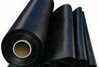 Плёнка полиэтиленовая чёрная 6м. ширина, (первичка) 200 мкм для мульчирования, фото 1