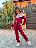 Спортивный костюм для девочки трикотаж двухнитка размер:122,128,134,140,146 см, фото 4