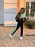 Спортивный костюм для девочки трикотаж двухнитка размер:122,128,134,140,146 см, фото 5