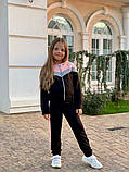 Спортивный костюм для девочки трикотаж двухнитка размер:122,128,134,140,146 см, фото 6