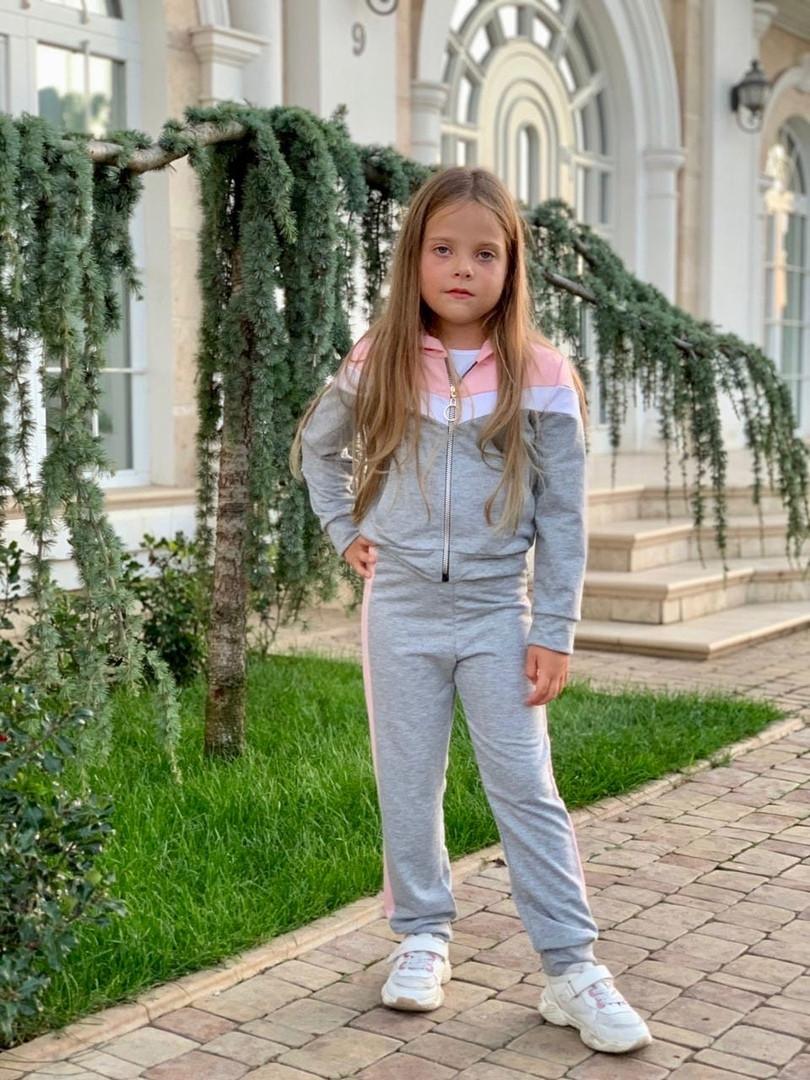 Спортивный костюм для девочки трикотаж двухнитка размер:122,128,134,140,146 см